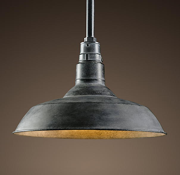 Old Industrial Pendant Light: Vintage Barn Pendant