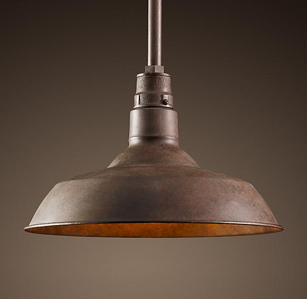 Restoration Hardware Outdoor Lighting Reviews: Vintage Barn Pendant