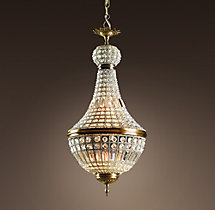 19th C. French Empire Crystal Chandelier 18""
