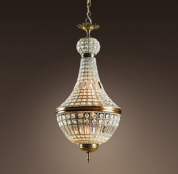 """Restoration Hardware Lighting Chandeliers: 19th C. French Empire Crystal Chandelier 18"""""""