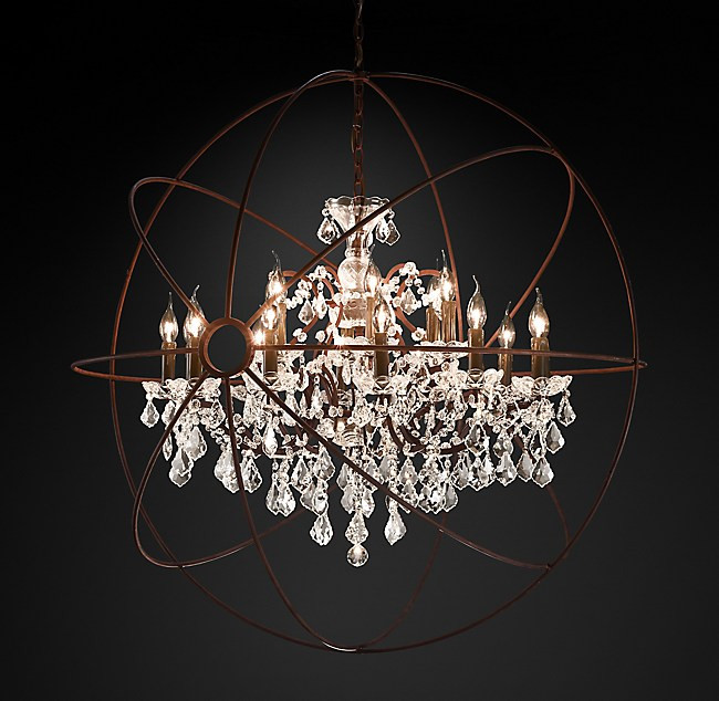 Foucaults orb clear crystal chandelier 44 aloadofball Gallery