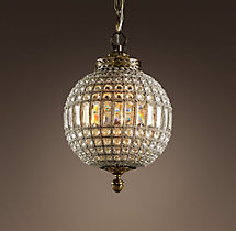 19th C. Casbah Crystal Chandelier 12""