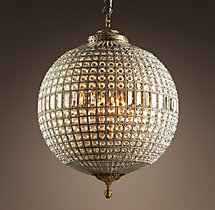 19th C. Casbah Crystal Chandelier 25""