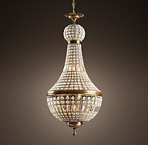 19th C. French Empire Crystal Chandelier 21""