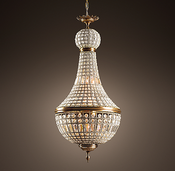 Restoration Hardware Light Fixture Sale: 19th C. French Empire Crystal Chandelier 21""