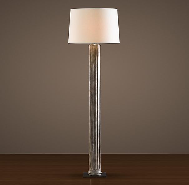 19th c zinc column floor lamp. Black Bedroom Furniture Sets. Home Design Ideas