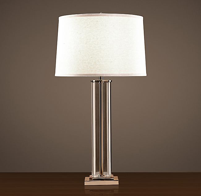 ^ French olumn Glass able Lamp