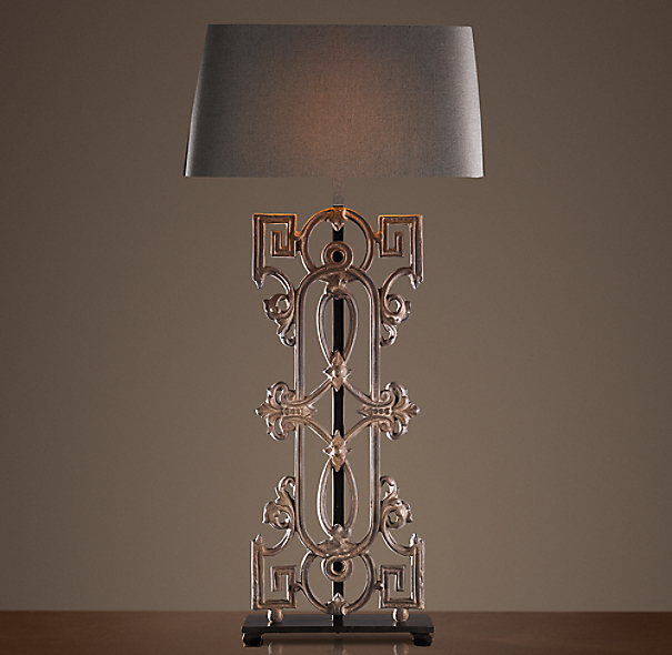 Greek Key Baluster Table Lamp