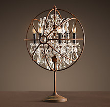Foucault's Orb Crystal Table Lamp