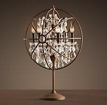 Foucault S Orb Crystal Table Lamp