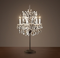 19th c rococo iron clear crystal table lamp. Black Bedroom Furniture Sets. Home Design Ideas