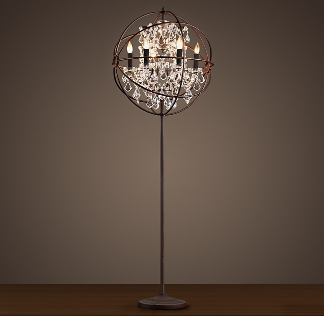 Foucaults orb clear crystal floor lamp click to zoom aloadofball Gallery