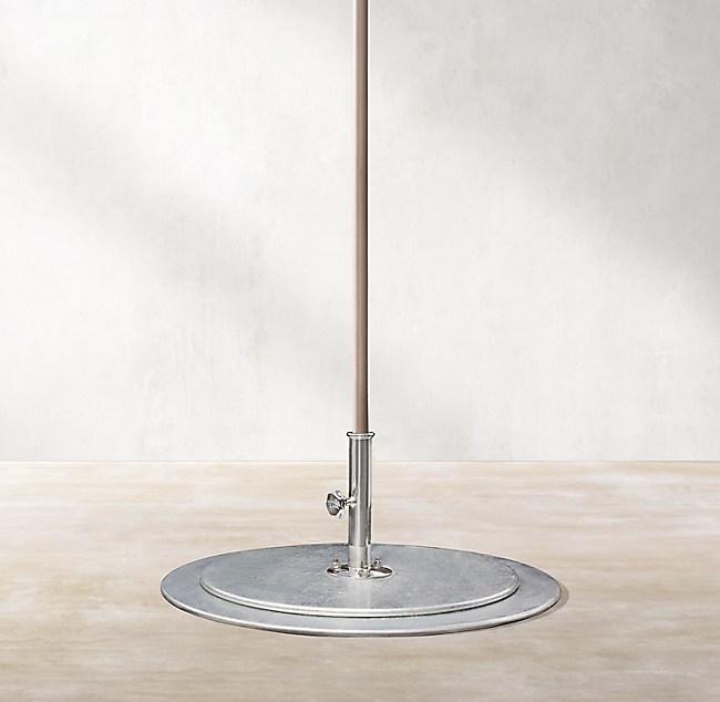 Umbrella Stand Hardware: Tuuci® 150-LB. Galvanized Steel Plate Umbrella Stand