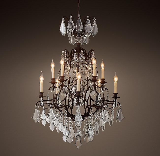 Louis xv iron crystal chandelier 32 aloadofball Gallery