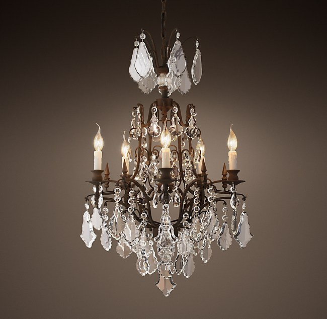 Louis xv iron crystal chandelier 24 aloadofball Gallery
