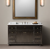 French Empire Single Extra-Wide Vanity