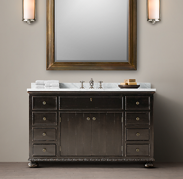 Restoration Hardware Bathroom Vanity Knockoff: French Empire Single Extra-Wide Vanity
