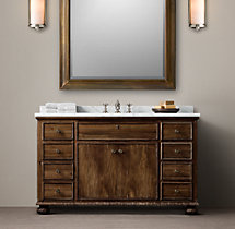 French Empire Extra-Wide Single Vanity