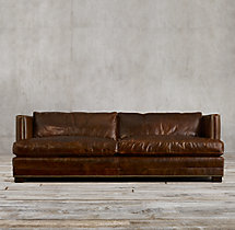 8' Easton Leather Sofa