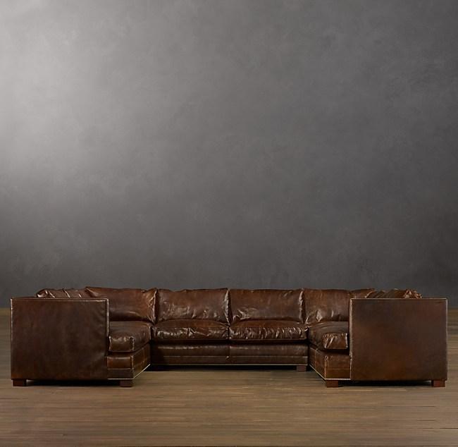 Peachy Easton Leather U Sofa Sectional Creativecarmelina Interior Chair Design Creativecarmelinacom