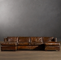 Easton Leather U Chaise Sectional