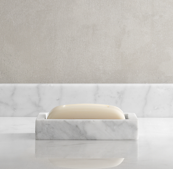 Carrara Marble Soap Dish