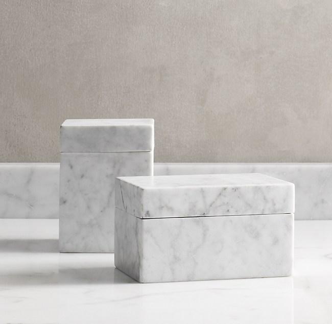 Carrara Marble Canister