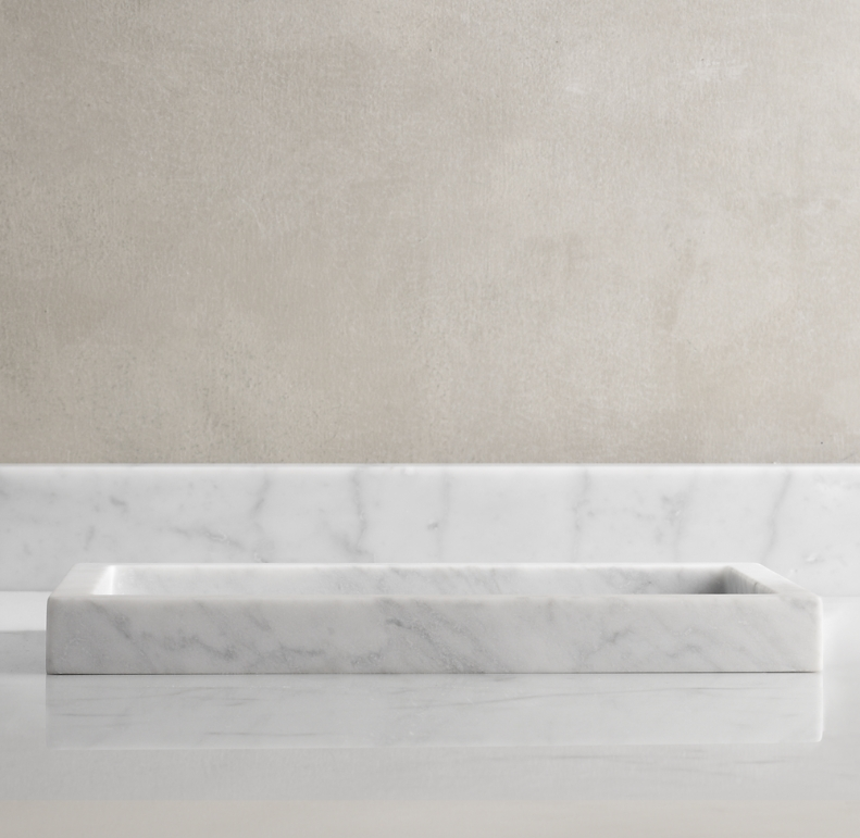 Carrara Marble Bath Tray