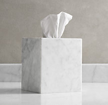 Carrara Marble  Tissue Cover
