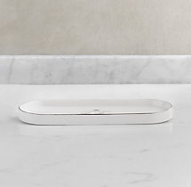 Le Bain French Porcelain Bath Tray - White