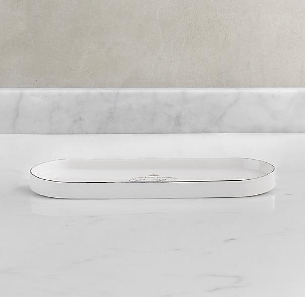 Le bain french porcelain bath tray white for White ceramic bathroom tray