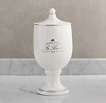 Le Bain French Porcelain Canister - White