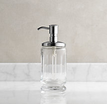 Faceted Glass Soap Dispenser