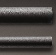 Industrial Hand-Forged Extension Rod - Blackened Iron