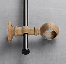 Estate Weathered Oak Double-Rod Conversion Kit - Weathered Oak
