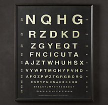 Vintage Eye Charts:  Letters