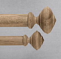 Estate Weathered Oak Newel Finial (Set of 2) - Weathered Oak