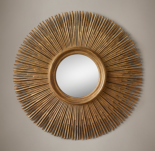 17th C Round Sunburst Mirror