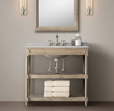 Bathroom Accessories Restoration Hardware weathered oak washstand bath collection - aged oak | rh
