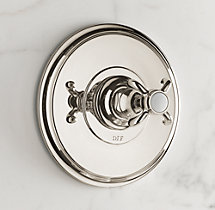 Bistro Cross-Handle Balanced Pressure Shower Valve & Trim Set with Backplate