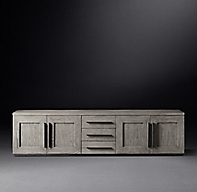 Machinto Panel 4 Door Media Console With Drawers