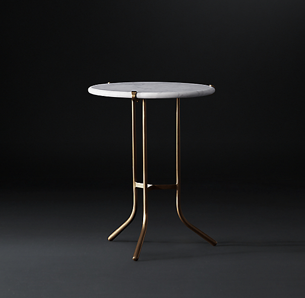 Ronan Marble Round Side Table