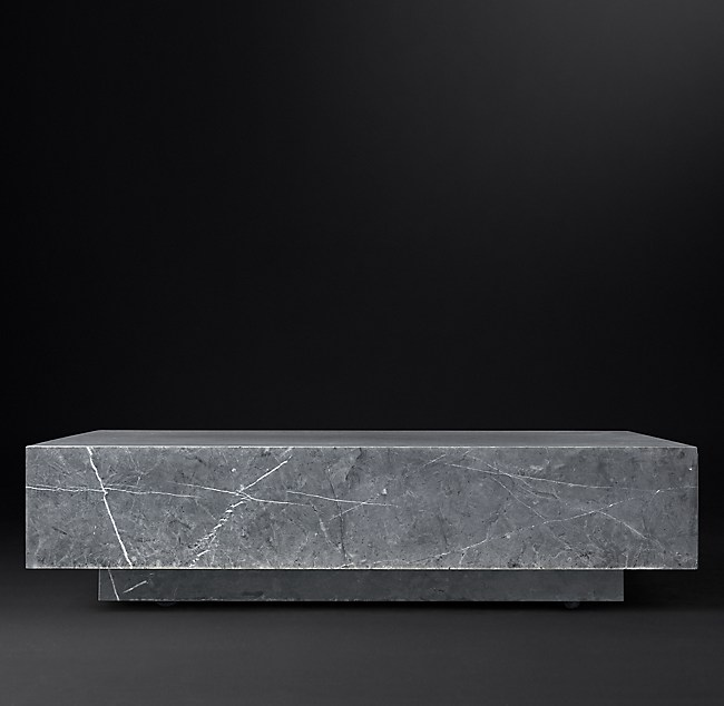 Marble Plinth Square Coffee Table
