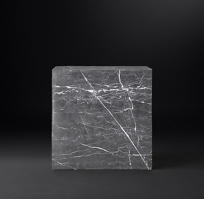 Marble Plinth Cube Side Table 13950 Regular 10460 Member More Finishes