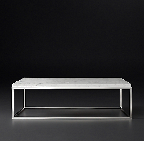 Buy White Marble And Black Metal Coffee Table From Fusion: Nicholas Marble Rectangular Coffee Table