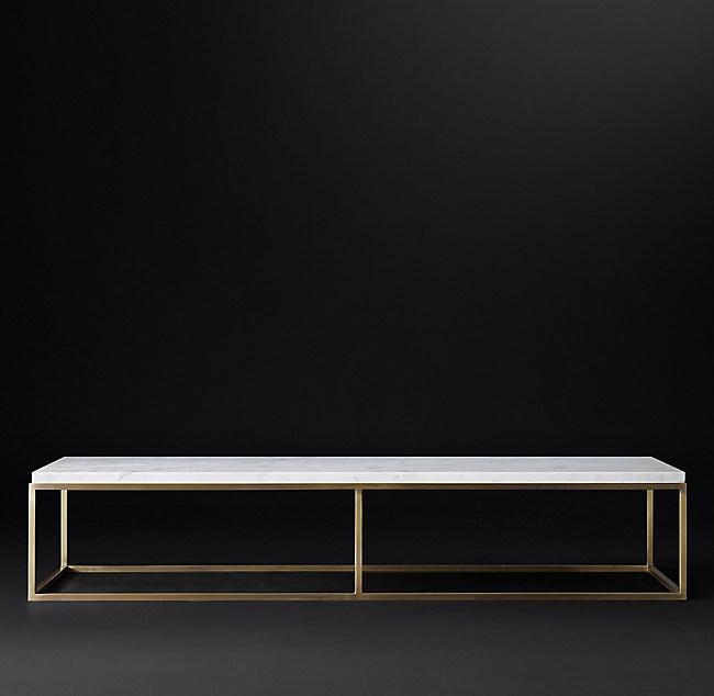 Nicholas Marble Large Rectangular Coffee Table