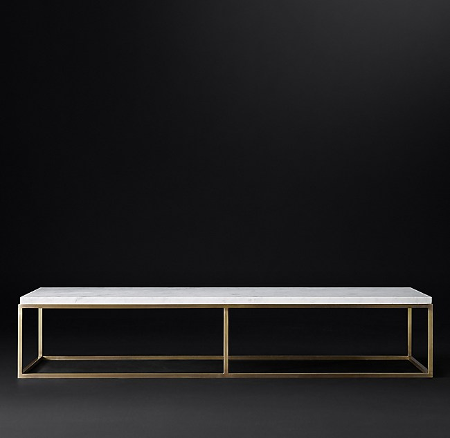 Nicholas Marble Rectangular Collection White Marble Burnished - Rectangle white marble coffee table