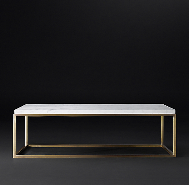 Restoration Hardware Marble Coffee Table: Nicholas Marble Rectangular Coffee Table