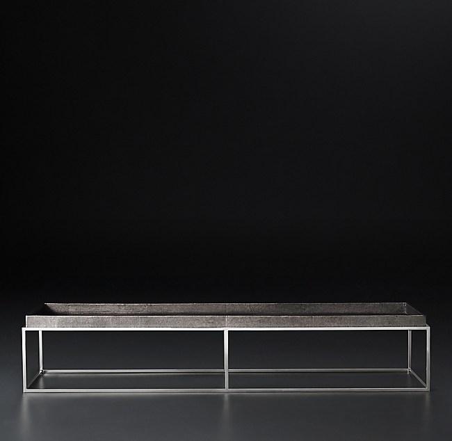 Shagreen Coffee Table Tray: Hudson Shagreen Tray Rectangular Coffee Table