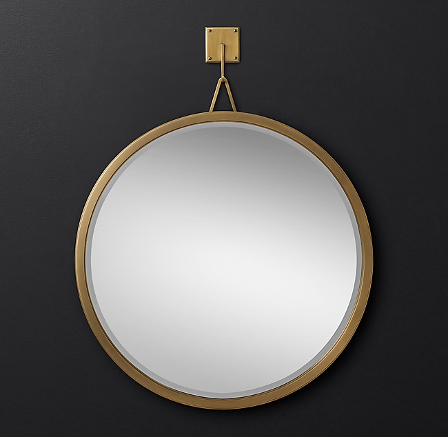 Pendant round mirror for Restoration hardware round mirror